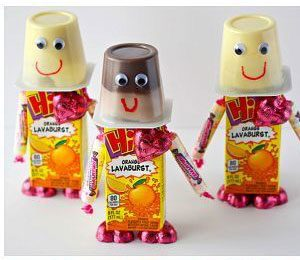 Robot juice box and pudding pack