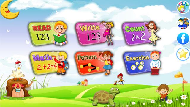 Gaming math app for basic skills