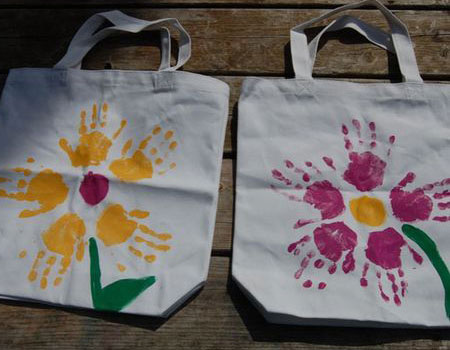 #5. Hand-painted Flower Tote